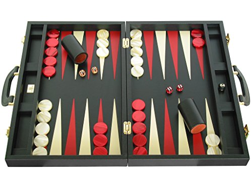 Zaza & Sacci Leather Backgammon Set - Board Game - 20