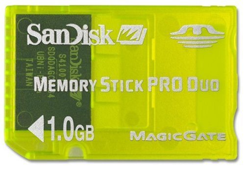 SanDisk SDMSG-1024 Pro Duo 1 GB Gaming Memory Stick by SanDisk
