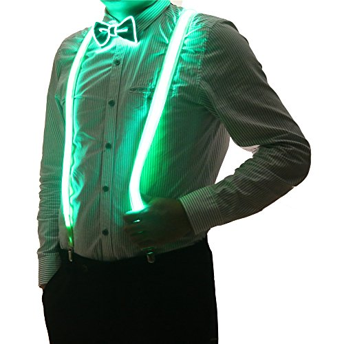 2 Pcs/Set, Good Quality Light Up LED Suspenders