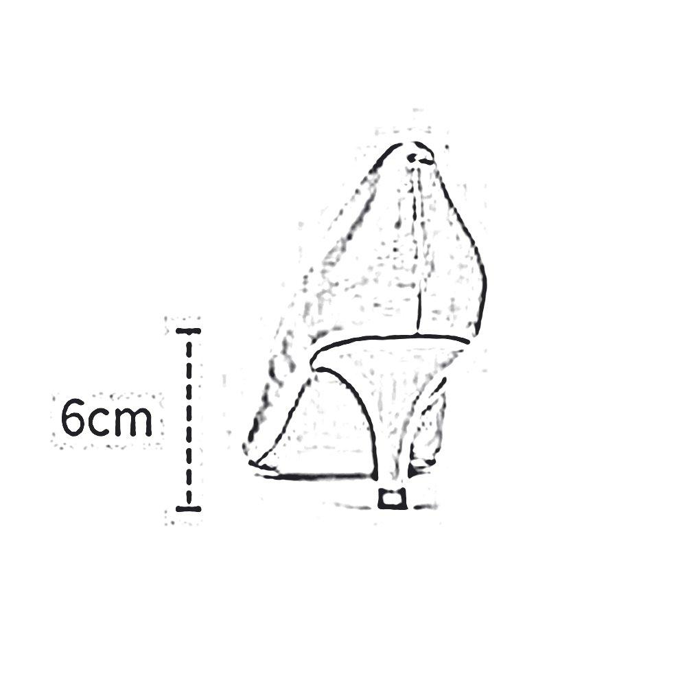 DALL Pumps Ly-07 Glatt Vamp Vamp Vamp Frühling Und Sommer Ms. High Heels Retro Flacher Mund Mit Einer Höhe Von 6 Cm (Farbe   Schwarz größe   EU 36 UK 4 CN 36) c53858