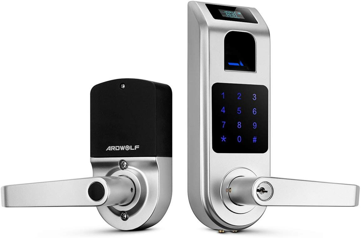 Fingerprint Door Lock, ARDWOLF A10 Keyless Entry Smart Biometric Door Locks with Digital Keypads Electronic Touchscreen…