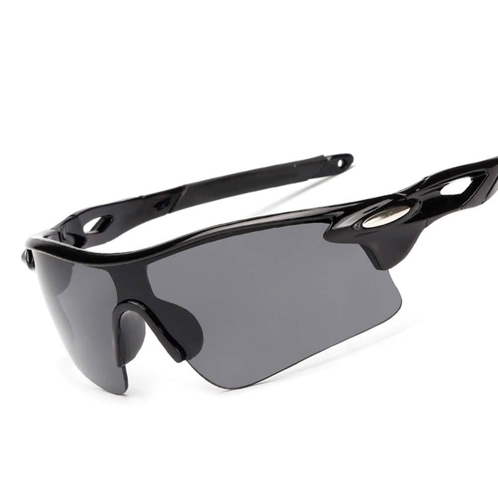 Polarized Sunglasses Sport Driving Occhiali Shades Protezione UV400 Occhiali a Cavallo con Visione Notturna Obiettivo Uomo Donna Teens Ciclismo Baseball Beach (Nero, Giallo) kakakooo