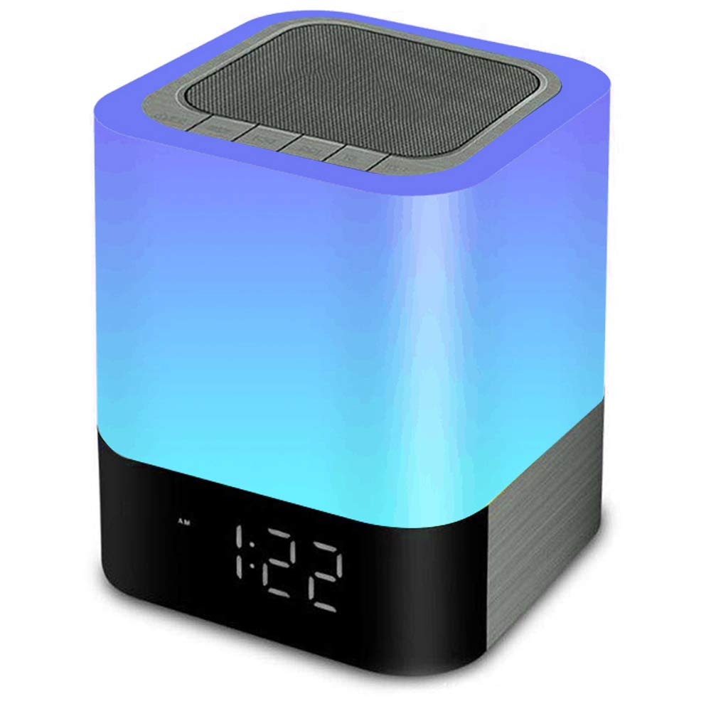 MJDUO Night Light Bluetooth Speaker,Portable Dimmable Touch.