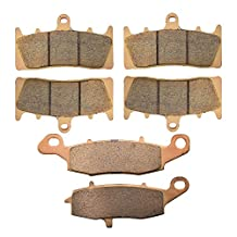 AHL Sintered Front & Rear Brake Pads Set for Kawasaki VN1500 Vulcan Mean Streak P1/P2 2002-2004
