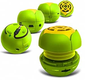 e-StoreUK MP3-SPEAKER-PLAYER-GREEN-BB9380 - Altavoz portátil compatible con iPhone, Smartphone, color verde