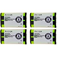 Axiom Rechargeable Battery for Panasonic Cordless Telephone (HHR-P104A) - 4 Pack