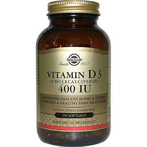 (Solgar, Vitamin D3 (Cholecalciferol) 400 Iu, 250 Softgels )