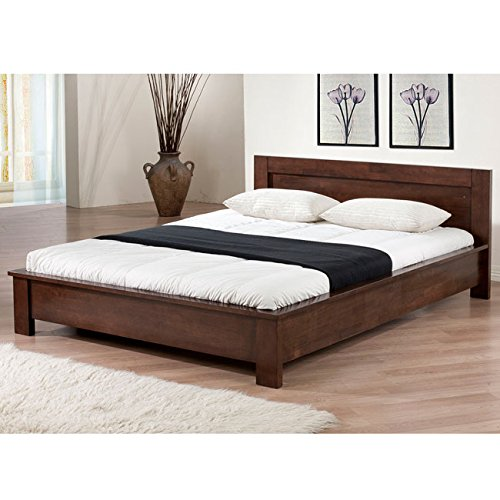 Modern Contemporary Style Alsa Platform Full Size Bed Wenge Dark Brown Finish(Brown)