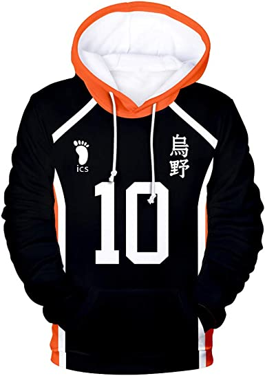 New Haikyuu! Anime Fashion Casual Loose Printed Unisex Hoodie Sweatshirts Coat