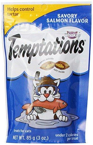 Whiskas Temptations Cat Treat Salmon Flavor 2 Pack