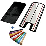Kofull Golf Putting Alignment Mirror, Perfect Golf Training Aid to Correct Putting Posture for Golf Beginners and Enthusiasts-FREE 10 PCS GOLF TEE