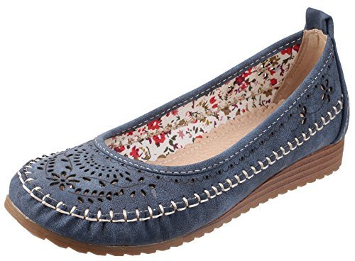 Fleet And Foster Womens/Ladies Neptune Slip On Summer Shoes Navy