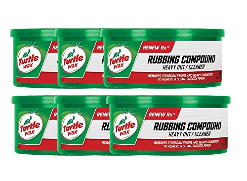Turtle Wax Rubbing Compound & Heavy Duty Cleaner (10.5 oz) - 6 Pack 10.5 Ounce Rubbing Compound