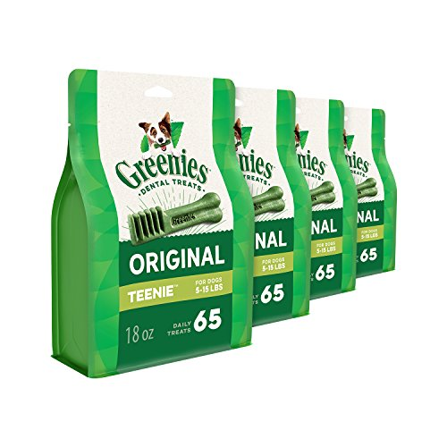 Greenies 72 oz 260 Treats Original Teenie Dog Dental Chews, 4.5 lb