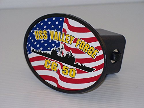 """USS VALLEY FORGE CG 50 Hitch Cover for 2"""" Receiver"""