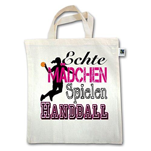Handball - Echte Mädchen Spielen Handball - Unisize - Natural - XT500 - Jutebeutel kurzer Henkel vH95SvJRL