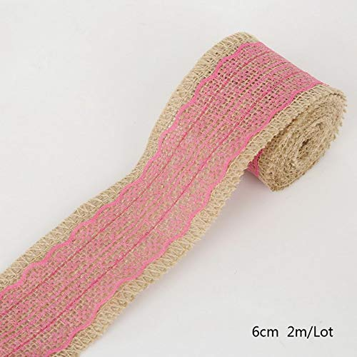 Lace Ribbon Sewing Tape 2m DIY Natural Roll Burlap Trims Tape Py Decor Knit Adhesive Tape Sticker Craft Fabric