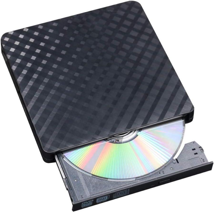 KOqwez33 Portable Ultra-Thin External USB 3.0 Correct Errors Plug DVD//CD Drive Player Writer ROM Writer Rewriter for Laptop PC Computer