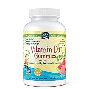 NORDIC NATURALS Vitamin D3 Kid's Gummies, 60 Count
