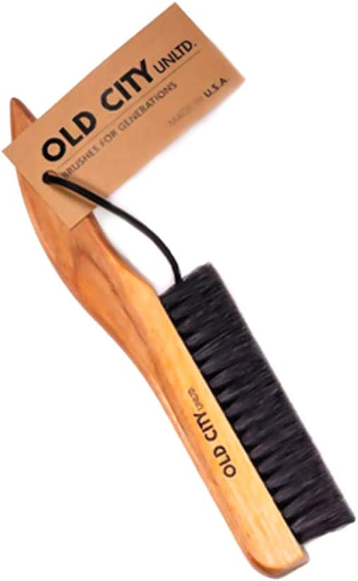 Lint Remover, Garment, Clothes Brush-U.S.A.-Solid Catalpa Wood & 100% High Quality Boar Bristle Brushes; Great for Furniture, Wool Suits, Pet Hair, Suede, Hats and More. Hand Sanded & Oiled