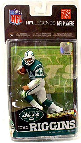 (McFarlane Toys NFL Sports Picks Legends Series 6 Action Figure John Riggins (New York Jets) Green Jersey Bronze Collector Chase)