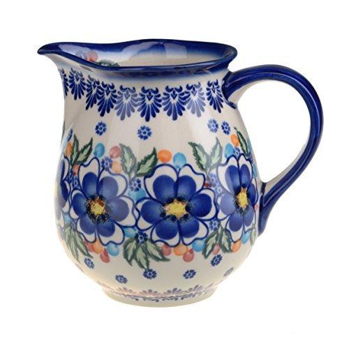 Classic Boleslawiec Pottery Hand Painted Ceramic Jug 1.3 litre / 2.4 pints, (Hand Painted Jug)