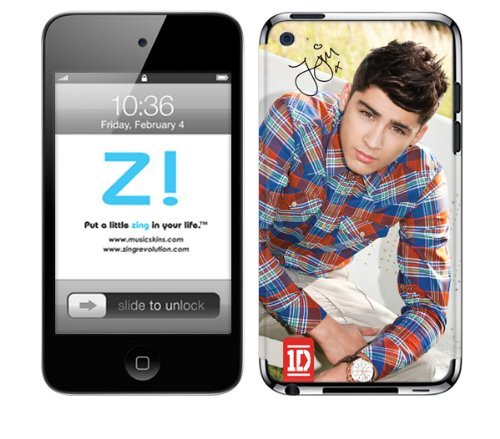 Zing Revolution One Direction Premium Vinyl Adhesive Skin for iPod Touch 4, Zayn, MS-1D60201