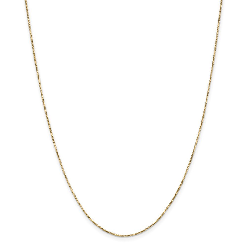 14k Yellow Gold 0.8mm Spiga Chain Necklace 2.16g Wheat
