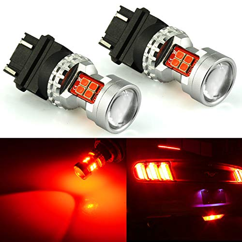 04 Nissan Altima Projector - JDM ASTAR Extremely Bright High Power GX-3020 SMD 3056 3057 3156 3157 4057 4157 LED Bulbs with Projector, Brilliant Red