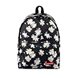 TechCode Shoulder Bag, Canvas Pretty Printing Zipper Backpack Lightweight Girls Teens Bookbag Unisex Travel Shoulder Casual Daypack School Bags Camping Rucksack for Men Women Teenagers(A10)