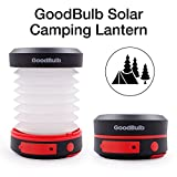 GoodBulb LED Outdoor Compact Solar Camping, Hiking, Emergency Lantern with Rechargeable USB Power Bank