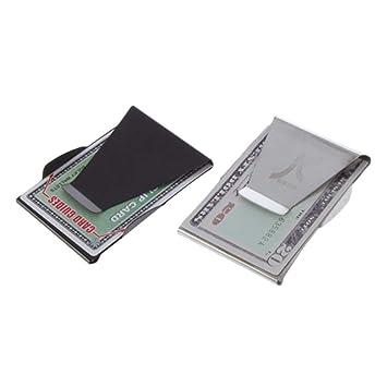 Slim Stainless Steel Money Clip Pocket Wallet Cash money Credit Card Holder NEW