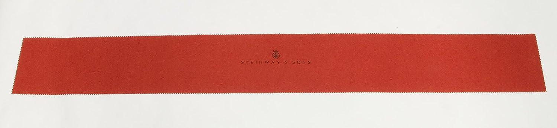 Steinway /& Sons Klaviaturabdeckung Tastenläufer Tastenabdeckung rot