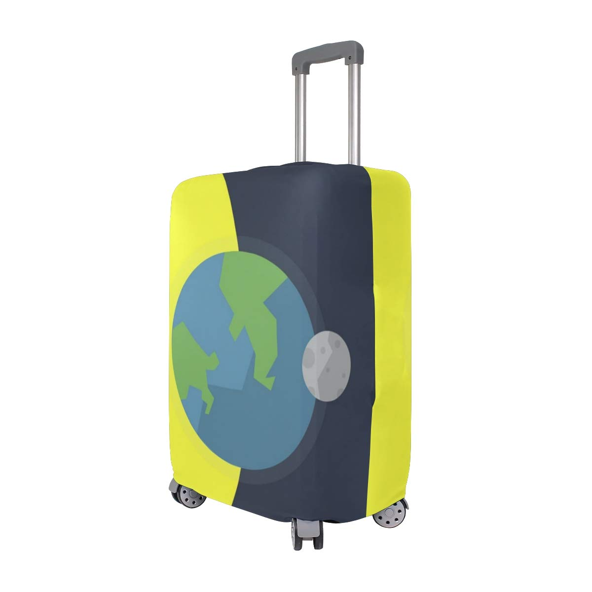 Travel Luggage Cover Anime Theme Sun Earth Moon Suitcase Protector Fits 22-24 Inch Washable Baggage Covers