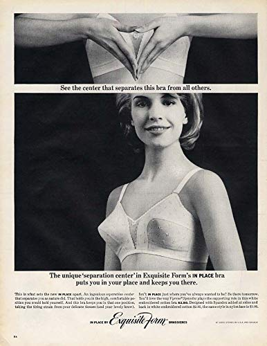 Unique separation center in Exquisite Form In Place Bra ad 1962 L ()