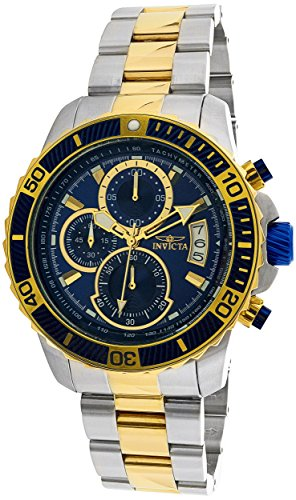 Invicta Men's 'Pro Diver' Quartz Stainless Steel Casual Watch, Color:Two Tone (Model: 22415)