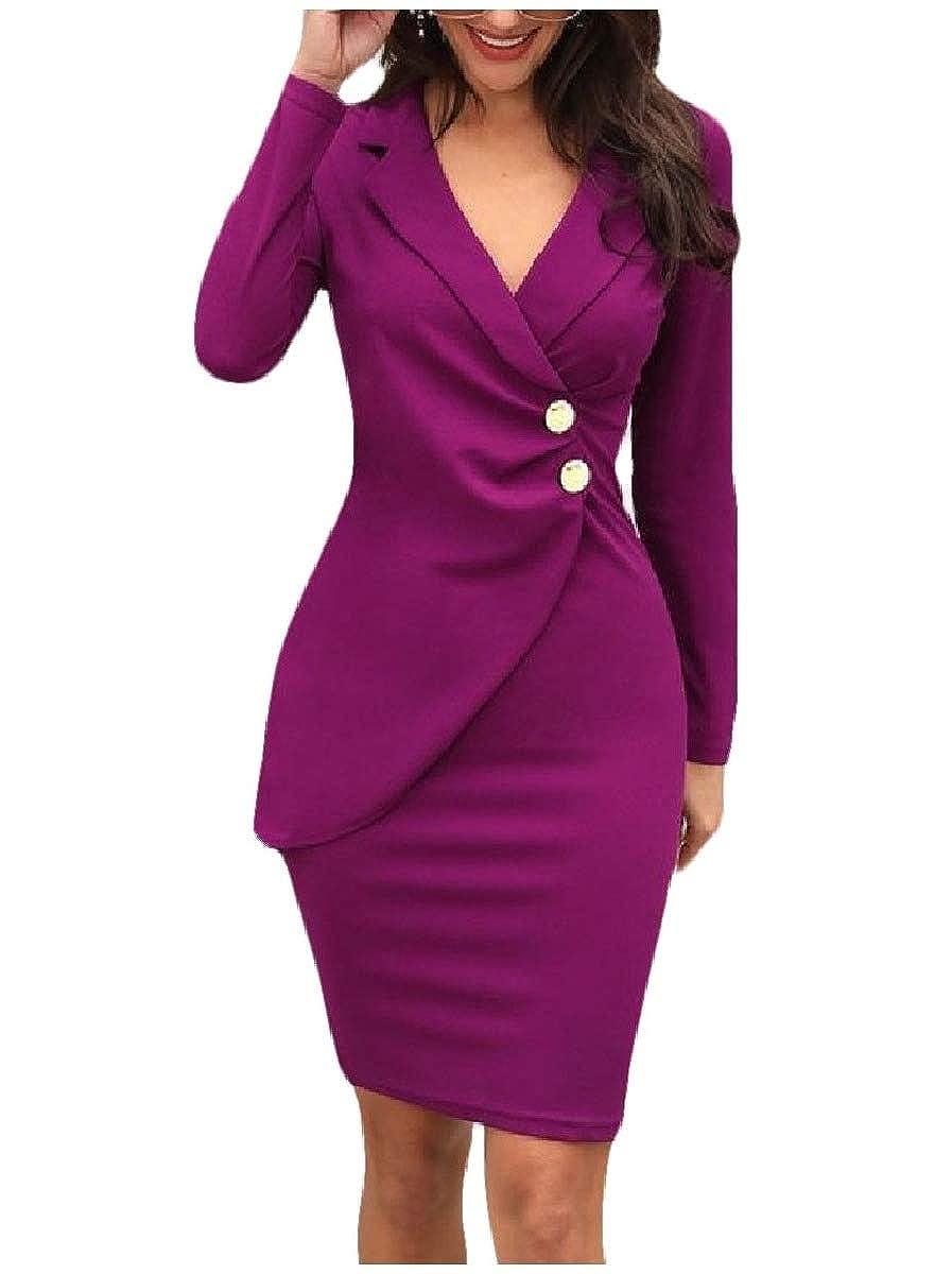 Light Purple Coolhere Women's African Style Dashiki PlusSize Basic Cotton Classy Dress