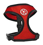 Gooby Soft Breathable Mesh Dog Harness for Small Pets, Medium, Red