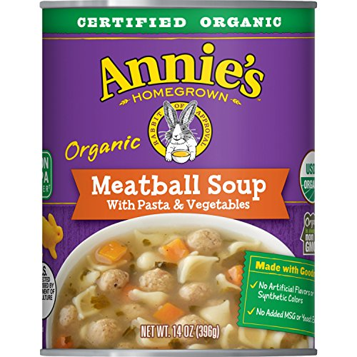 Annie's Homegrown Meatball Soup With Pasta & Vegetables, 14 Oz