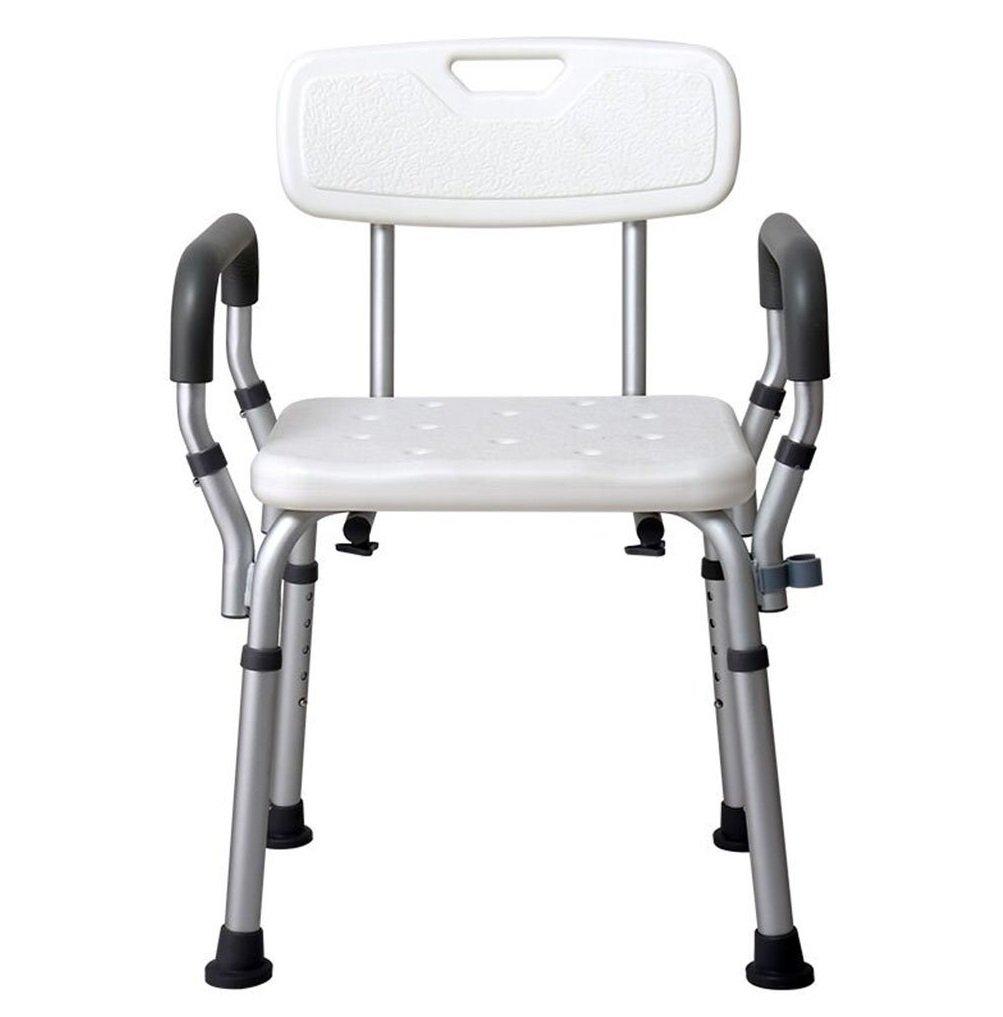 リムーバブルチェアシャワーチェア高さ調節可能妊婦浴室椅子浴室シャワーチェア快適で安定した便利な B07CNWXVGV