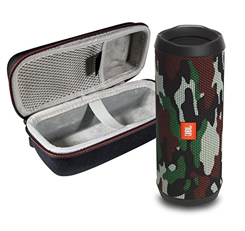 JBL Flip 4 Portable Bluetooth Wireless Speaker Bundle with Protective Travel Case - Camouflage