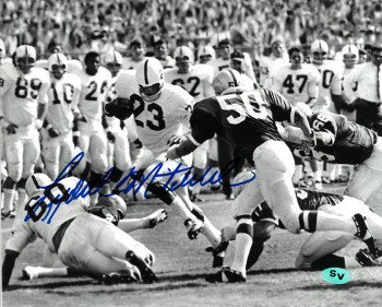 Athlon CTBL-018784 Lydell Mitchell Signed Penn State Nittany Lions 8 x 10 B&W Photo - White Jersey Horizontal