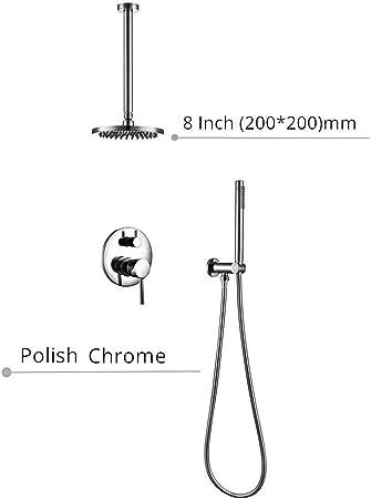 Wieoc Columna de Ducha Sistema de juegos de ducha Grifo de baño de ...