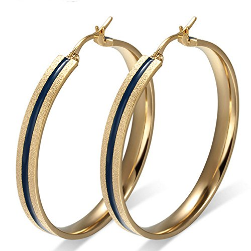 cheo-rish-18k-gold-tone-dull-polish-earrings-for-womensblack-epoxy-plate