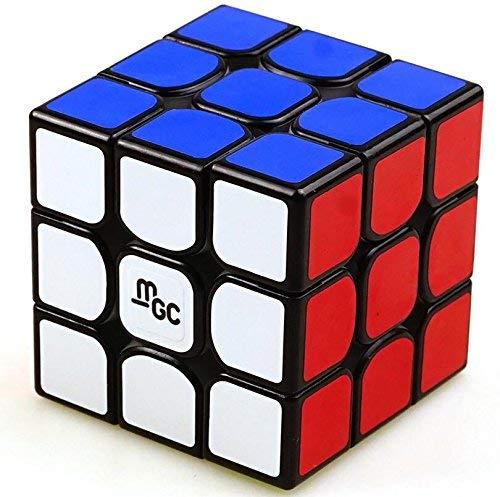 Cubelelo YJ MGC 3x3 Black Speed Cube Puzzle 3x3x3 Magic Cube ()
