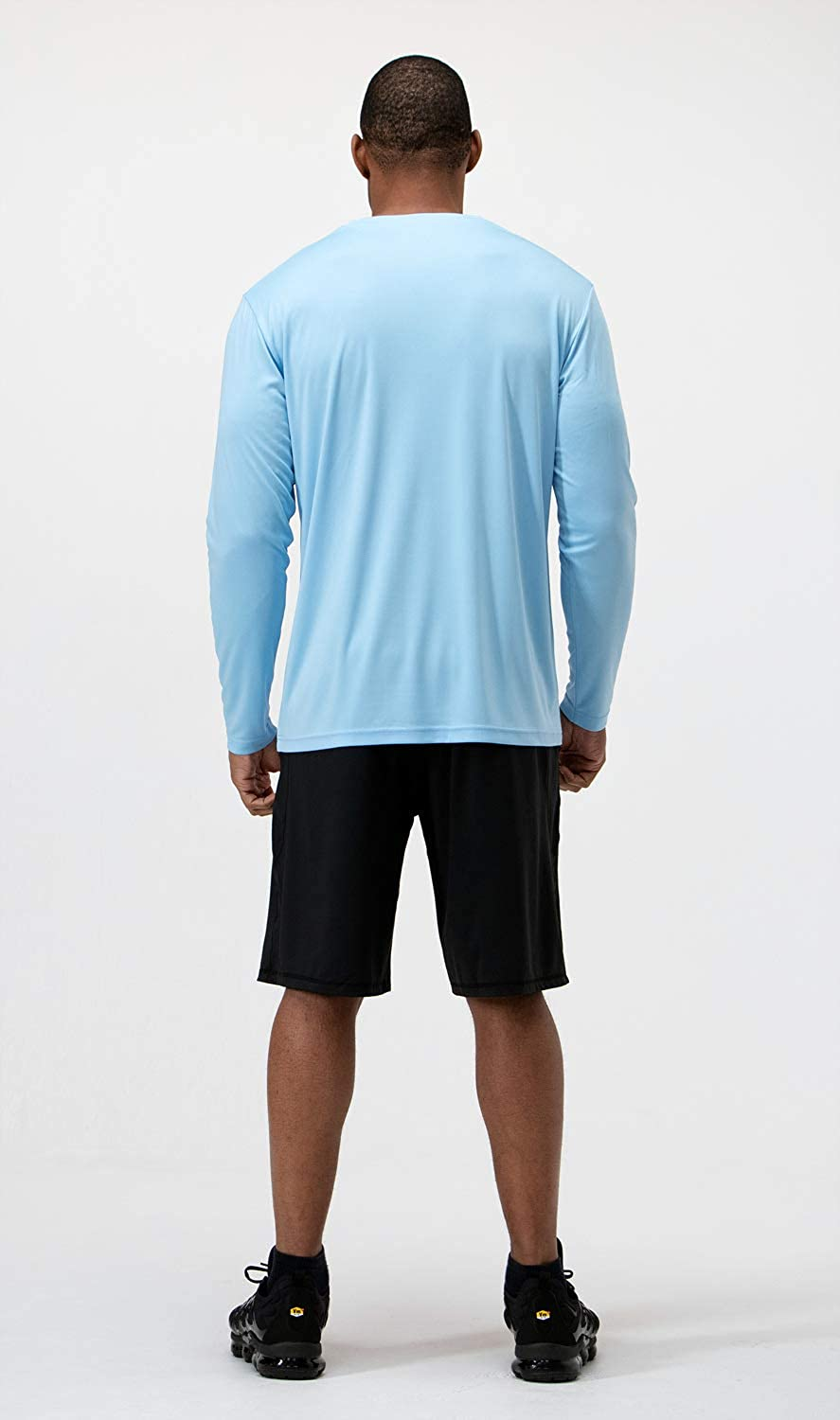 UPF 50+ Outdoor Long Sleeve Workout Performance T-Shirts DEVOPS Mens 2 Pack UV Sun Protection