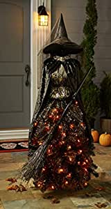 Luckybuy168 6 5' HALLOWEEN LED WITCH FORM MANNEQUIN TREE