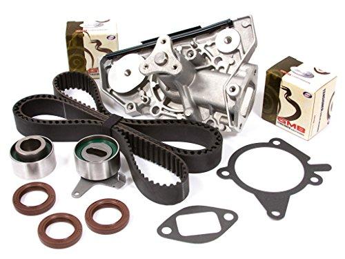 (Evergreen TBK179WPT Fits 91-96 Ford Escort Mazda Mercury 1.6L 1.8L DOHC 16V B6 BP Timing Belt Water Pump Kit )