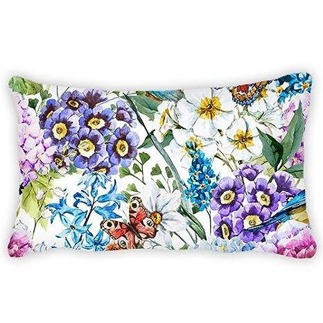 adacarroll poliéster Watercolor diseño de flores con peonía ...