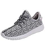 Cayanland Men's Fashion Running Sneakers Women's Slip-on Shoes 01 Grey 45